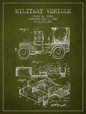 Vintage Military Vehicle Patent From 1942 Art Print by Aged Pixel
