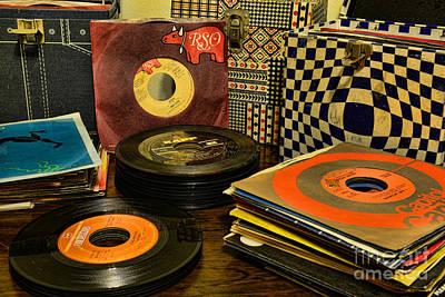 Jukebox Photograph - Vintage Vinyl by Paul Ward
