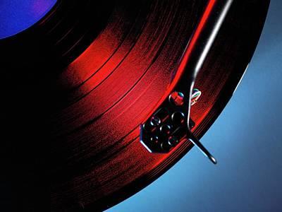 Vinyl Record Photograph - Vinyl by Tek Image