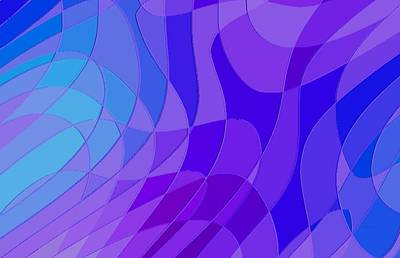 Curvilinear Digital Art - Violet Blue Abstract by L Brown