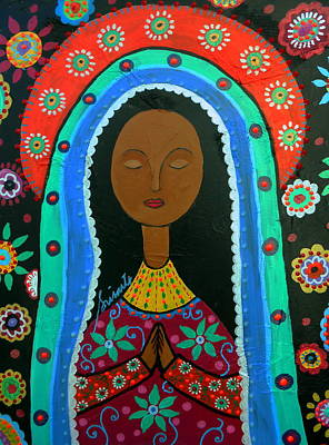Virgen Mary Painting - Virgin Guadalupe by Pristine Cartera Turkus