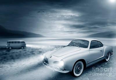Transporter Digital Art - Volkswagen Karmann Ghia by Linton Hart