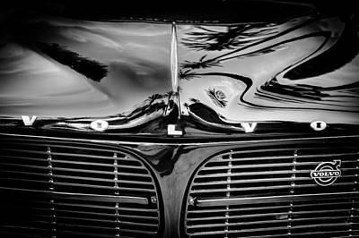 Photograph - Volvo Grille Emblem by Jill Reger