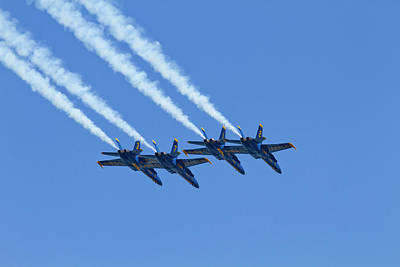 Blue Angels Photograph - Wa, Seattle, The Blue Angels by Jamie and Judy Wild