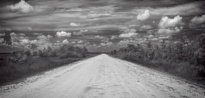 Photograph - Wagon Wheel Road Bw by Rudy Umans