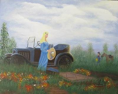 Painting - Waiting For A Picnic by Lorraine Bradford