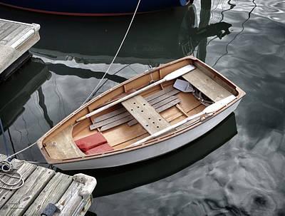 Rowboat Digital Art - Waiting by Patricia Januszkiewicz