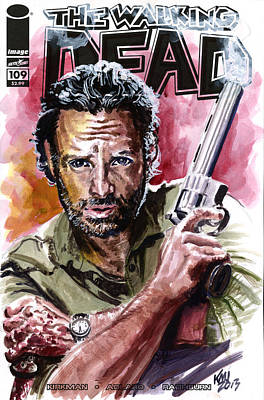 Walking Dead Rick Art Print by Ken Meyer jr