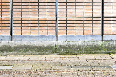 Brick Building Photograph - Wall Background by Tom Gowanlock