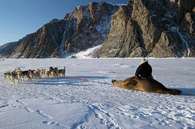 Walrus Hunting Art Print