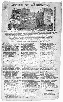 War Of 1812 Broadside Art Print by Granger