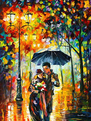 Warm Night Art Print by Leonid Afremov