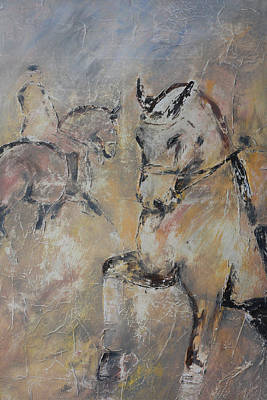 Canter Painting - Warm Up by Adrian McMillan