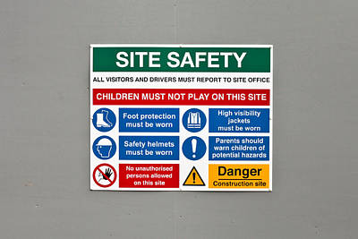 Warning Sign Print by Tom Gowanlock