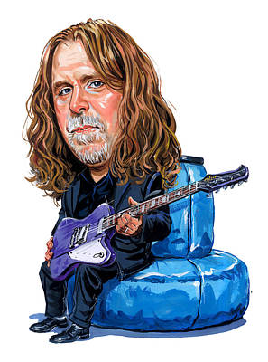 Comics Royalty-Free and Rights-Managed Images - Warren Haynes by Art