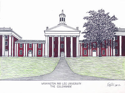 Drawing - Washington And Lee University by Frederic Kohli