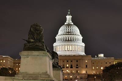 United Photograph - Washington Dc - Us Capitol - 01131 by DC Photographer