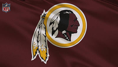 Uniforms Photograph - Washington Redskins Uniform by Joe Hamilton