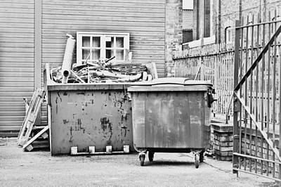 Dumpster Photograph - Waste Skip by Tom Gowanlock