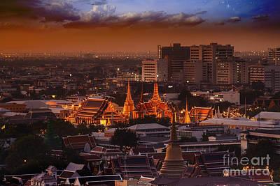 Wat Prakeaw  Art Print by Anek Suwannaphoom