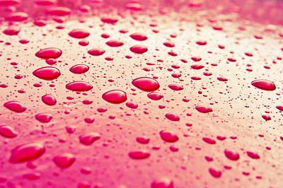 Water Droplets Art Print by Tom Gowanlock