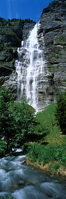 Lauterbrunnen Wall Art - Photograph - Waterfall In A Forest, Murrenbach by Panoramic Images
