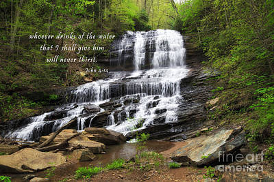 New Testament Photograph - Waterfall With Scripture by Jill Lang