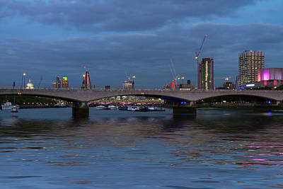 Photograph - Waterloo  Bridge St Pauls London by David French