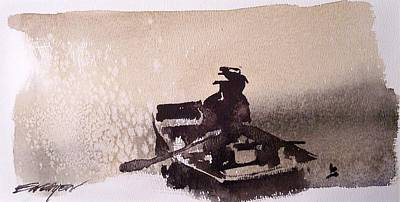 Waubascon Lake Art Print by Ed  Heaton