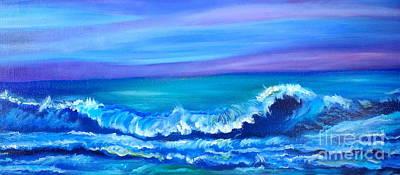 Wave Art Print by Jenny Lee