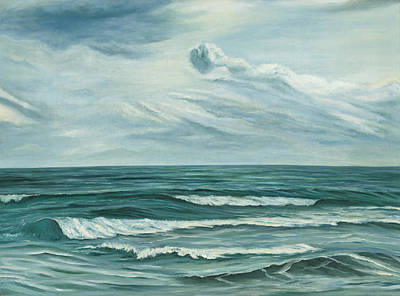 Andalucia Painting - Waving Sea by Angeles M Pomata