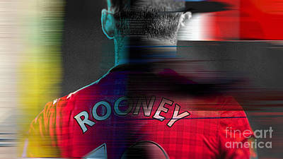Wayne Rooney Art Print by Marvin Blaine