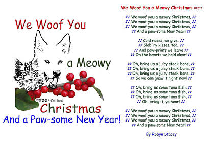 Photograph - We Woof You A Meowy Christmas by Robyn Stacey