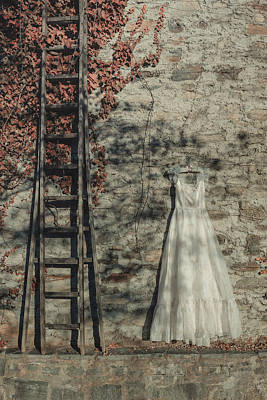 Coat Hanger Photograph - Wedding Dress by Joana Kruse