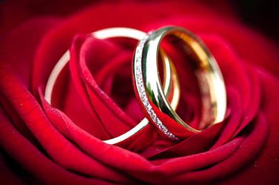 Wedding Rings Print by Ralf Kaiser