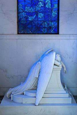 Metairie Cemetery Photograph - Weeping Angel II by Chris Moore