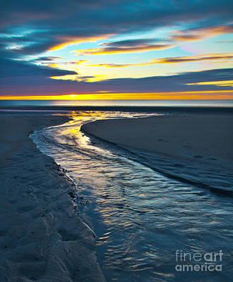 Winter Animals - Wells Beach Maine Sunrise by Glenn Gordon