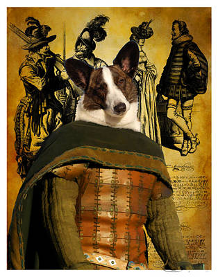 Painting - Welsh Corgi Cardigan - Cardigan Welsh Corgi Art Canvas Print by Sandra Sij