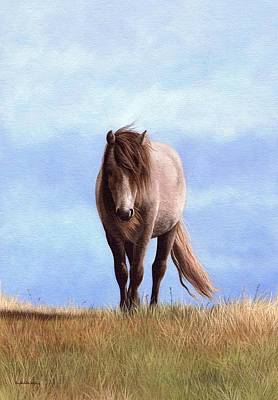Painting - Welsh Pony Painting by Rachel Stribbling