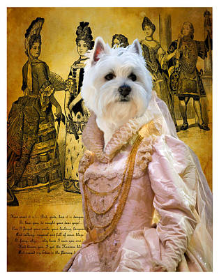 Painting - West Highland White Terrier Art Canvas Print by Sandra Sij