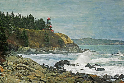 West Quoddy Head Lighthouse Photograph - West Quoddy Head Lighthouse by Cindi Ressler