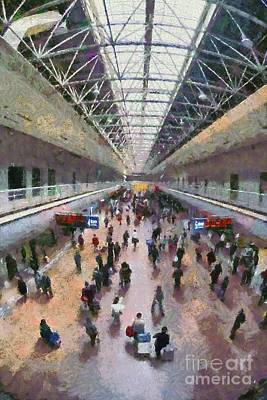 Painting - West Railway Station In Beijing by George Atsametakis
