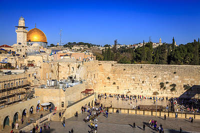 New Years - Western Wall and Dome of the Rock by Alexey Stiop