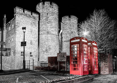 Phone Box Photograph - Westgate Towers And Phone Boxes. by Ian Hufton