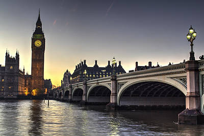 Photograph - Westminster Bridge And Big Ben by David Pyatt