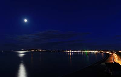 Weymouth At Night Art Print by Ollie Taylor