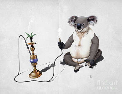 Koala Wall Art - Drawing - What A Drag Wordless by Rob Snow