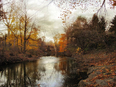 Autumn River Photograph - What Remains by Jessica Jenney