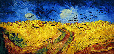 Plant Painting - Wheatfield With Crows by Vincent van Gogh