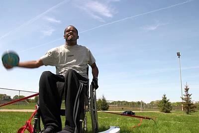 Wheelchair Athletics Art Print